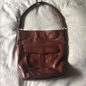 NWOT Rebecca Minkoff Brown Leather Shoulder Bag